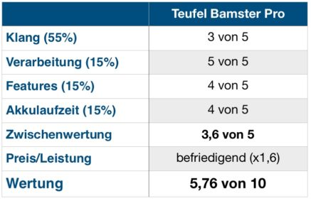 Bamster Pro Wertung